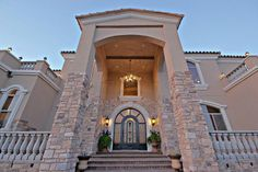 The Entrance to this Top of the Mountain Old World European Estate in Phoenix. Price $1,500,000