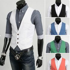 d006ddfb13b Click to Buy    2017 Rushed Terno Masculino Men Suit Vest Fashion Spring.