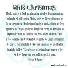 """The Work of Christmas"""" 