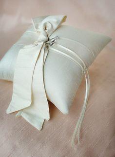 bow themed wedding ring pillow (by emici bridal) via emmaline bride Ring Holder Wedding, Ring Pillow Wedding, Wedding Pillows, Wedding Rings, Wedding Dress Backs, Wedding Bows, Gorgeous Wedding Dress, Gown Wedding, Wedding Ideas
