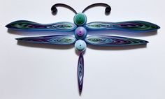 Quilled Dragonfly #quilling #dragonfly #ombre