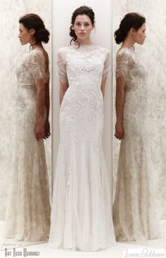 I mostly like it... the height of the sheer overlay on the neckline is a little weird. Mimosa Gown Jenny Packham 2013