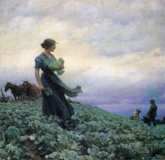 The Cabbage Field (Charles Courtney Curran - 1914)