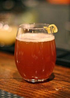 The Mr. Adams - Sam Adams Infinium Beer, Apple Cider, Lemon Juice, Black Pepper Syrup, Lemon Zest.