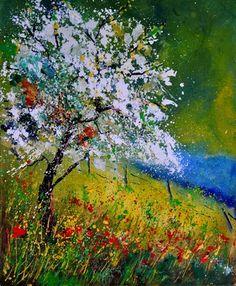 """Saatchi Online Artist Pol Ledent; Painting, """"spring 451110"""" #art"""