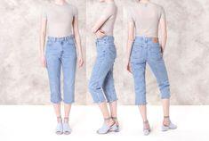 HIGH WAIST levi JEANS levis 512 Mom Jeans 90s frayed hem