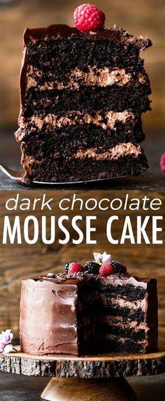 Dessert Party, Oreo Dessert, Food Cakes, Cupcake Cakes, Cupcake Ideas, Chocolate Cake Recipe Easy, Cake Chocolate, Chocolate Making, Baking Chocolate