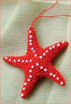 Starfish: free crochet pattern by Sabrina Boscolo ༺✿ƬeresaⱤestegui✿༻