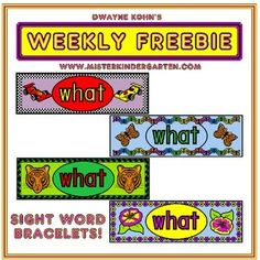 What a fun way to learn a new word... Wear it!  This title includes patterns to make four different sight word watches; down, like, said, what. Simply cut out, allow students to choose their favorite design, color and tape to size!   For more Word Fun that you can wear, check out our Sight Word Watches and CVC Watches: CVC Word Watches Sight Word Watches (2 letter words)  Sight Word Watches (3 letter words) Sight Word Watches (4 letter words)   Interested in more Sight Word fun?