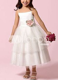 This is adorable and it doesn't make them look like a mini bride or a mini prom queen.
