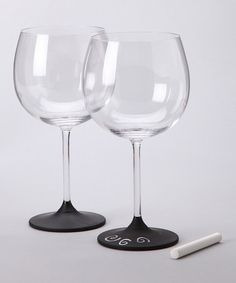 chalkboard paint on the bottom of glasses - would be a cool gift!
