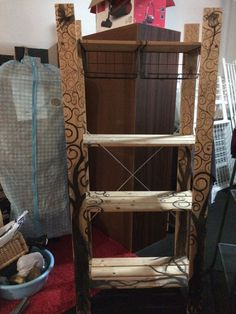 Painted IKEA GORM Shelf and baskets + Drawer Unit