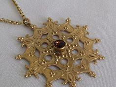 Liz Palacios Necklace Charm Pendant Enamel Swarovski Crystals