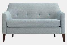 Norbury low back sofa in Jane Churchill Loren, aqua
