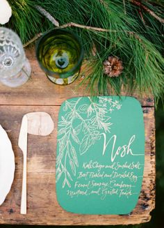 The merriest Christmas wedding details: http://www.stylemepretty.com/collection/3507/