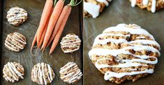 Mrkvové sušenky s kokosem a vanilkovou polevou