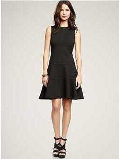 Ponte swing dress ($69.95)