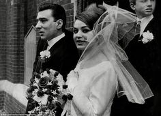 Newly-weds Reggie Kray and Frances Shea, 19th April 1965. David Bailey took the official wedding photographs.