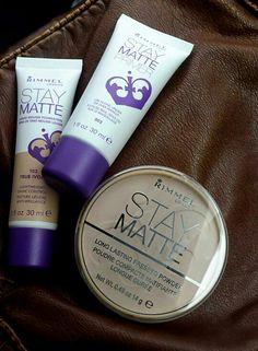 RIMMEL STAY MATTE PRIMER   FOUNDATION   SETTING POWDER - Best for oily skin!