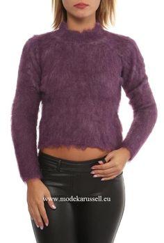 Damen Stehkragen Pullover Aaliyah Violett