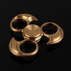 Fidget Spinner EDC HandSpinner Metallic Copper Bearing Toys Golden Fidgets SpinnerCool SpinnersHand