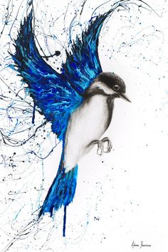 Original Art by International Selling Artist Ashvin Harrison. Buy Unique Realism, Expressionism, Abstract Canvas Art, Shipped To Your Door. Bird Paintings On Canvas, Bird Painting Acrylic, Abstract Canvas Art, Animal Paintings, Artist Painting, Watercolor Paintings, Canvas Painting Nature, Abstract Animal Art, Blue Painting