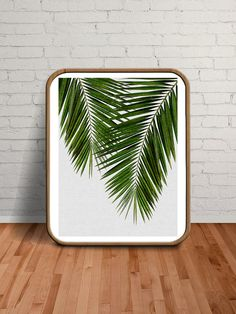 Palm Leaves, Palm Print, Wall Art, Tropical Decor, Beach Decor, Gift for Women, Gift for Her, Green Prints, Green Art, Green, Palm, Leaf