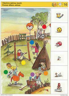Na hřišti a u vody - 3 Worksheets For Kids, Kindergarten Worksheets, Educational Games For Kids, Kids Learning, Brain Activities, Activities For Kids, Preschool Pictures, Sequencing Cards, File Folder Activities