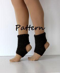 Yoga sock pattern DIY PDF crochet yoga sock by SienasMaineDesign
