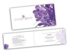 Hochzeitseinladung - Violette Blümchen