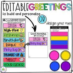 Editable Morning Greeting • Morning Greetings Social Distancing • Digital