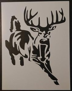 Responsible hunting, game management and wildlife conservation are important aspects of any wild game hunting, but many find the challenge of deer hunting to be the most challenging. Here are some ideas and deer hunting tips to make y Deer Stencil, Animal Stencil, Stencil Art, Stenciling, Rooster Stencil, Stencil Patterns, Bow Hunting Deer, Quail Hunting, Hunting Decal