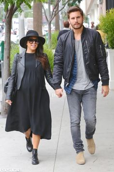 Kourtney Kardashian held hands with Scott Disick in LA on Friday.