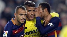 The other side of FC Barcelona's win against Villarreal. Jona Dos Santos, Sandro and Neymar whispering! | FC Barcelona
