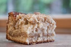 Tender Banana Crumb Cake with a Cinnamon Crumb Middle Layer and Oatmeal Crumb Topping