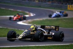 Ayrton Senna (BRA) (John Player Special Team Lotus), Lotus 98T - Renault V6 Turbo, Imola, 1986.