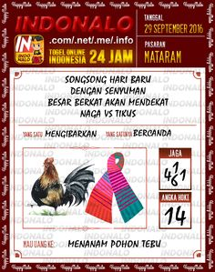 Angka Kembar Togel Wap Online Live Draw 4D Indonalo Mataram 29 September 2016