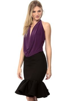 Purple Plain and Sexy Draped Blouse @ Cicihot Top Shirt Clothing Online Store: Dress Shirt,Sexy Womens Shirt,T Shirts,Corset Dress,White T Shirt,Girl T Shirt,Short sleeve top