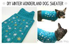 DIY Winter Wonderland Dog Sweater from IrresistiblePets.net