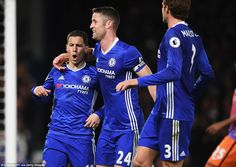 Chelsea were back in front before half-time against City and it was Hazard who found the net again for the Blues