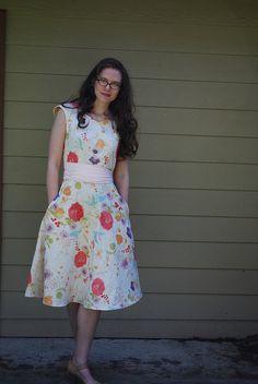 Flickr user hopefulmorning's Colette Crepe dress