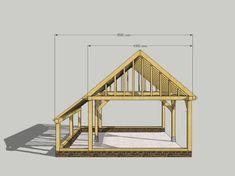 Model Kenchester - ED Bouwpakketten - Outdoors - Epoxy ontwerp Carport Sheds, Carport Plans, Carport Garage, Barns Sheds, Shed Building Plans, Shed Plans, Pallet House Plans, Roof Design, House Design