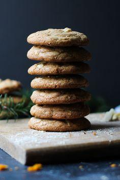 White Chocolate Hazelnut Crunch Cookies w/ Orange Zest // Chocolate & Marrow Blog