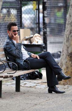 David Gahan in the West Village