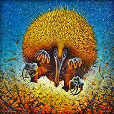 The diversity and quality of Australian Indigenous art reflects the richness and deep heritage of Indigenous culture and the distinct differences Indigenous Australian Art, Indigenous Art, Echidna, Wind And Rain, Sacred Art, Culture, Dance, Painting, Inspiration