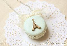 Macaron Eiffel Tower Necklace
