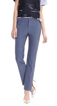 Banana Republic Ryan Fit Slim Stretch Pants Sz 6 Blue EUC #BananaRepublic #DressPants