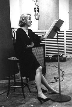 Marlene in the recording studio. She made several hit albums and continued to record for most of her life. In the end, she ended up where she had started: performing music.