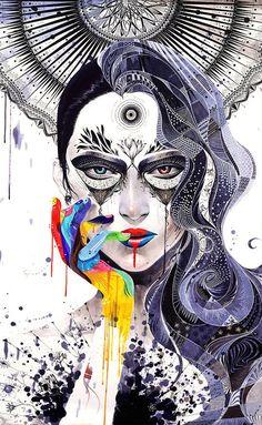 Les portraits originaux et colorés de Minjae Lee