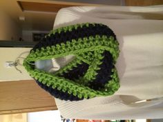 Seattle Seahawk Infinity Scarf by LeeniesHookUp on Etsy, $32.00
